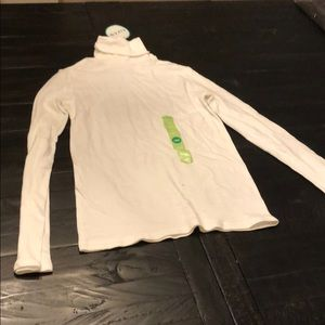 New with Tags- Girls white turtleneck long sleeve